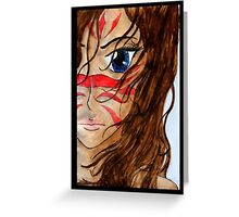 Warrior Girl Greeting Card