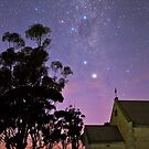 Abandoned Melrose Church and Galaxy by pablosvista2