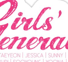 Girls' Generation - Cursive Sticker