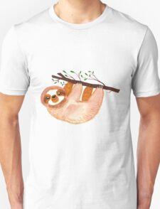 Kawaii Sloth Watercolor Unisex T-Shirt