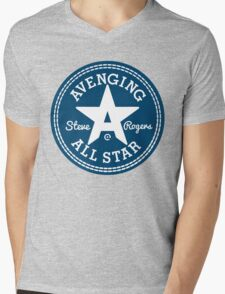 Avenging All Star (Two-Color) Mens V-Neck T-Shirt