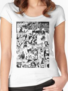 Manga Collage Women's Fitted Scoop T-Shirt