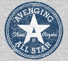 Avenging All Star (Two-Color Distressed) Kids Clothes