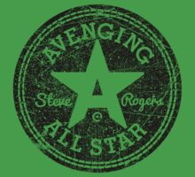 Avenging All Star (Black Distressed) Baby Tee