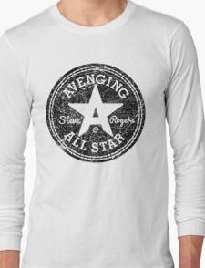 Avenging All Star (Black Distressed) Long Sleeve T-Shirt