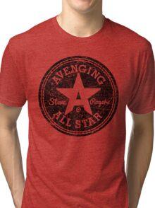 Avenging All Star (Black Distressed) Tri-blend T-Shirt