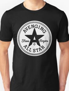 Avenging All Star (White) Unisex T-Shirt