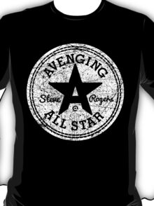 Avenging All Star (White Distressed) T-Shirt