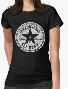 Avenging All Star (White Distressed) Womens Fitted T-Shirt