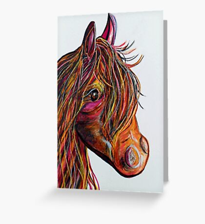 A Stick Horse Named Amber Greeting Card