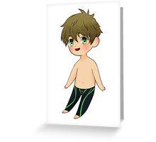 Makoto Chibi Greeting Card
