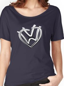 VW heart logo in a painted style Women's Relaxed Fit T-Shirt