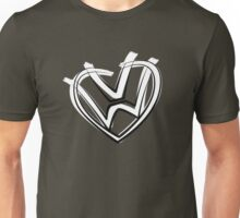VW heart logo in a painted style Unisex T-Shirt
