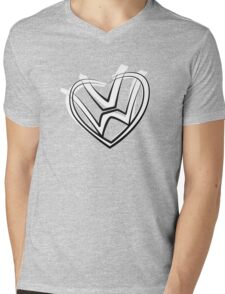 VW heart logo in a painted style Mens V-Neck T-Shirt