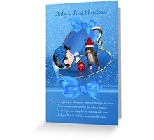 Baby Boys First Christmas Card - Night Before Christmas Greeting Card