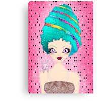 Ester the Easter Egg Lady Canvas Print