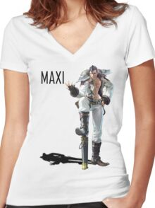 Maxi 2 Women's Fitted V-Neck T-Shirt