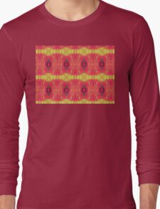 Lemon and red abstract. Long Sleeve T-Shirt