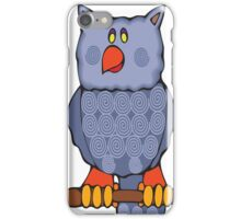 Happy Swirly Owl on Black iPhone Case/Skin