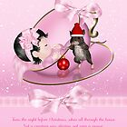 Baby Girl's First Christmas Card - Night Before Christmas by Moonlake
