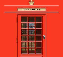 British Red Phone box - iPad Case by John Edwards