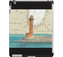 Buffington Hbr Lighthouse IN Nautical Map Cathy Peek iPad Case/Skin