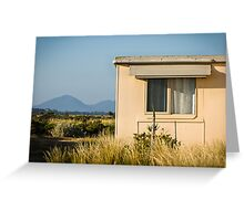 Fibro-cement home with a view Greeting Card