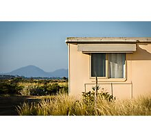 Fibro-cement home with a view Photographic Print