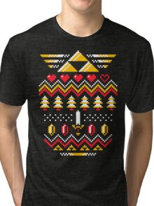 TRIFORCE HOLIDAY Tri-blend T-Shirt