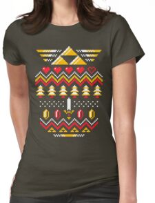 TRIFORCE HOLIDAY Womens Fitted T-Shirt