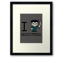 I Micheal Babysitters Framed Print