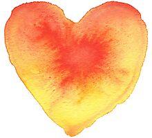 Radiating Heart Photographic Print
