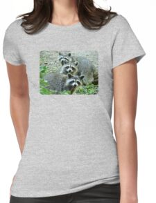 Three Raccoon Womens Fitted T-Shirt