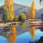 Golden Poplars Tumut River, Australia by Graham Gercken