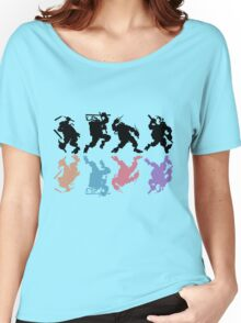 Heroes in a half tone Women's Relaxed Fit T-Shirt
