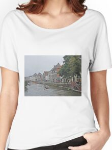 Ghent Canal Women's Relaxed Fit T-Shirt