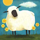 Sheep &amp; Flowers #1 by Lisa Marie Robinson