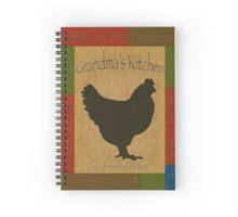 Grandma's Kitchen Love Served Here Spiral Notebook