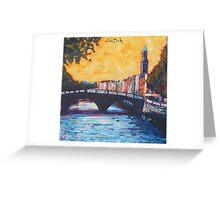 Father Mathew Bridge. Dublin Greeting Card