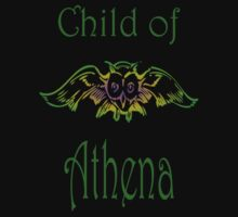 Child of Goddess Athena Greek Demigod Wisdom Kids Tee