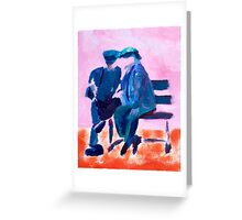 Seated Men Greeting Card