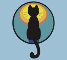 Sunrise Sunset Cat One Piece - Short Sleeve