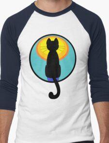 Sunrise Sunset Cat Men's Baseball ¾ T-Shirt