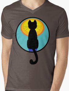 Sunrise Sunset Cat Mens V-Neck T-Shirt