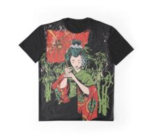 Traditional Geisha Design Graphic T-Shirt