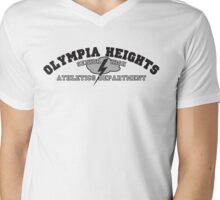 Olympia Heights Athletics (Black & White) Mens V-Neck T-Shirt