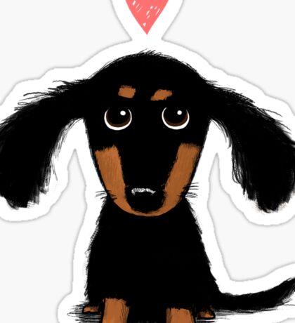 Dachshund Puppy Love Sticker