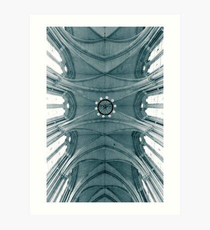 Looking up at the royal courts Art Print