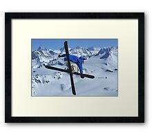 High mountains high jump Framed Print