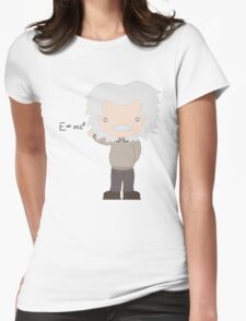 Excuse Me While I Science: Albert Einstein - E=mc² Equation Womens Fitted T-Shirt